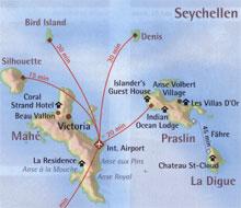 Seychellen Karte Afrika.Lage Und Anreise Mahe Seychellen